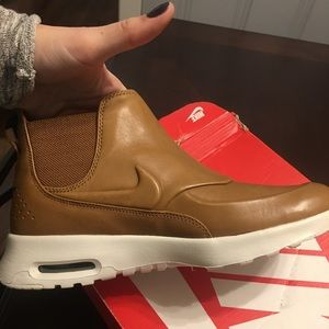 outlet store 4f7b9 9f463 Nike Shoes - Nike Air Max Thea Mid Brown leather sneaker bootie